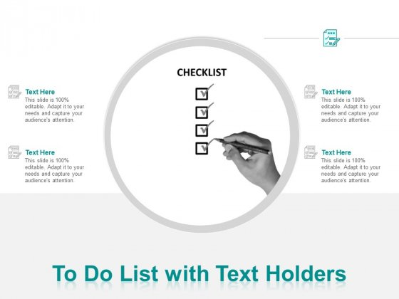 To Do List With Text Holders Ppt PowerPoint Presentation Gallery Example File