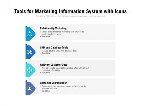 Tools For Marketing Information System With Icons Ppt PowerPoint Presentation File Graphics