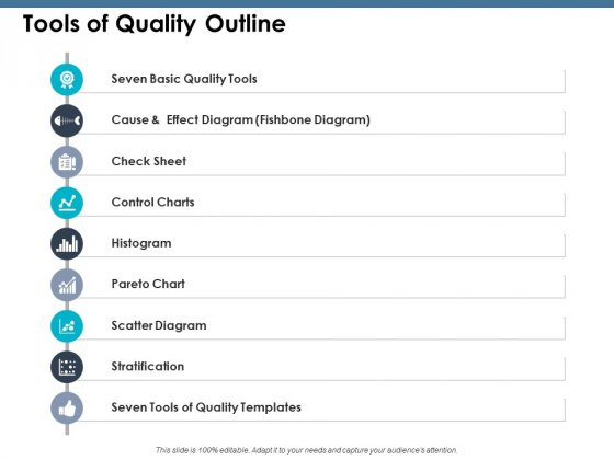 Tools Of Quality Outline Ppt PowerPoint Presentation Ideas Good
