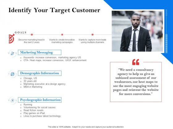 Tools To Identify Market Opportunities For Business Growth Identify Your Target Customer Themes PDF