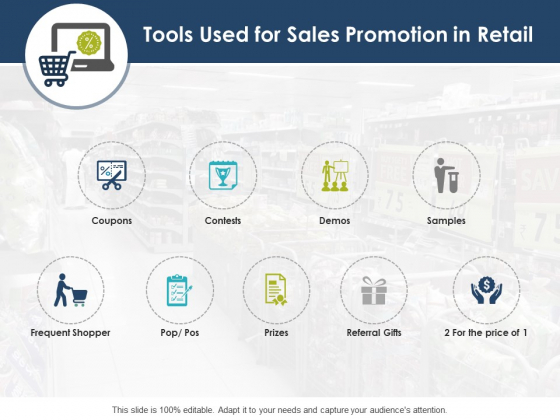 Tools Used For Sales Promotion In Retail Ppt PowerPoint Presentation