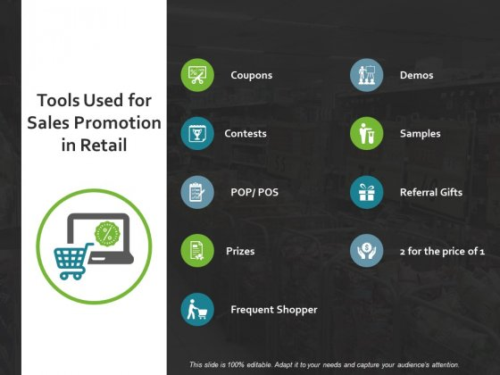 Tools Used For Sales Promotion In Retail Ppt PowerPoint Presentation Styles Vector
