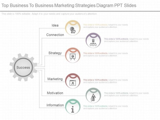 Top Business To Business Marketing Strategies Diagram Ppt Slides
