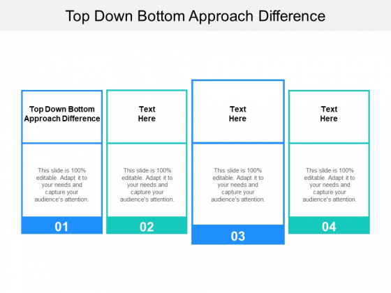 Top Down Bottom Approach Difference Ppt PowerPoint Presentation Icon Brochure Cpb Pdf