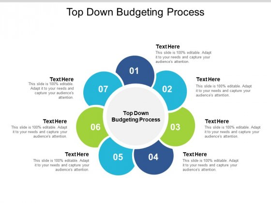 Top Down Budgeting Process Ppt PowerPoint Presentation Inspiration Templates Cpb Pdf