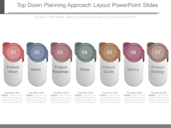 Top Down Planning Approach Layout Powerpoint Slides