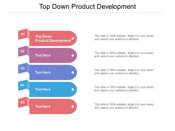 Top Down Product Development Ppt PowerPoint Presentation Ideas Inspiration Cpb Pdf