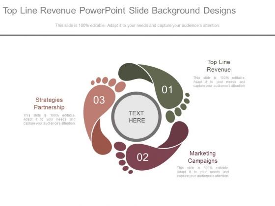 Top Line Revenue Powerpoint Slide Background Designs