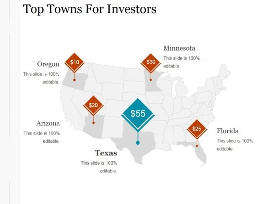 Top Towns For Investors Ppt PowerPoint Presentation Visuals