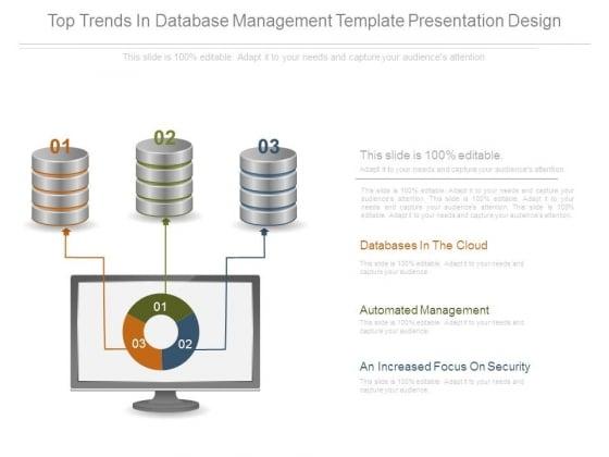 Top Trends In Database Management Template Presentation Design