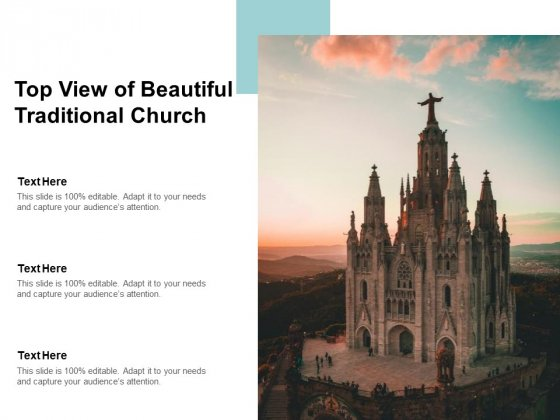 Top View Of Beautiful Traditional Church Ppt PowerPoint Presentation Model Influencers