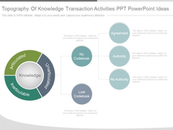 Topography Of Knowledge Transaction Activities Ppt Powerpoint Ideas