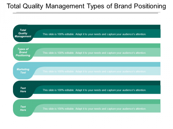 Total Quality Management Types Of Brand Positioning Marketing Tool Ppt PowerPoint Presentation Outline Designs