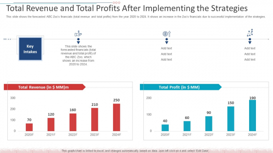 Total Revenue And Total Profits After Implementing The Strategies Icons PDF