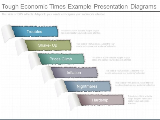 Tough Economic Times Example Presentation Diagrams