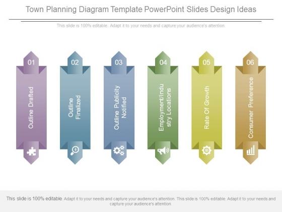 Town Planning Diagram Template Powerpoint Slides Design Ideas
