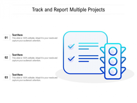 Track And Report Multiple Projects Ppt PowerPoint Presentation Icon Graphics Pictures