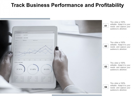 Track Business Performance And Profitability Ppt Powerpoint Presentation File Master Slide