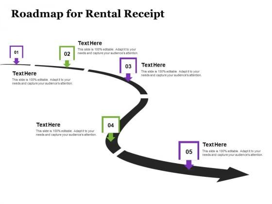 Tracking Rent Receipt Invoice Summary Roadmap For Rental Receipt Ppt Portfolio Smartart PDF