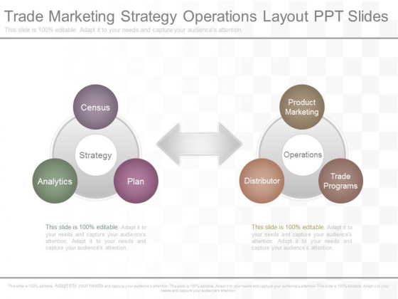 Trade Marketing Strategy Operations Layout Ppt Slides