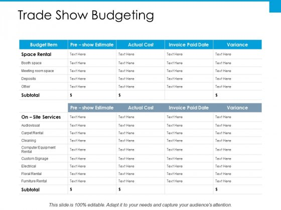 trade show budgeting ppt powerpoint presentation professional good