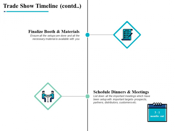 Trade Show Timeline Contd Marketing Ppt PowerPoint Presentation Pictures Graphics
