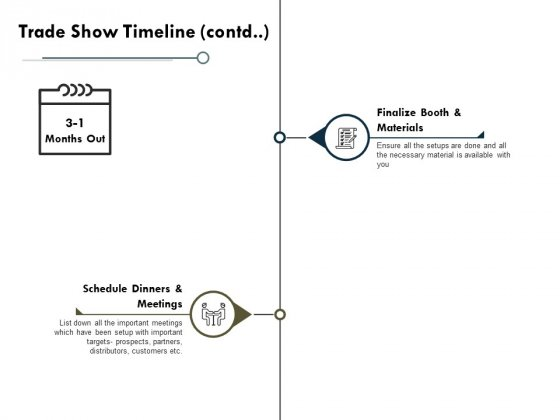 Trade Show Timeline Contd Marketing Ppt PowerPoint Presentation Pictures Maker