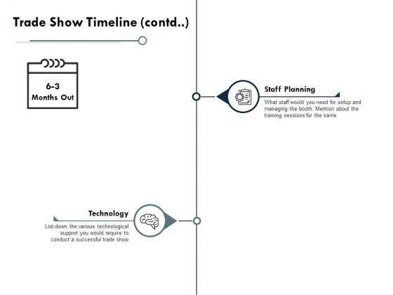 Trade Show Timeline Contd Technology Ppt PowerPoint Presentation Slides Sample