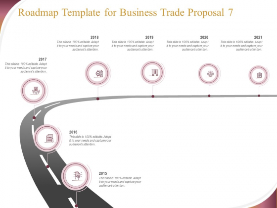 Trading_Company_Roadmap_Template_For_Business_Trade_Proposal_2015_To_2021_Ppt_Summary_Graphics_Tutorials_PDF_Slide_1