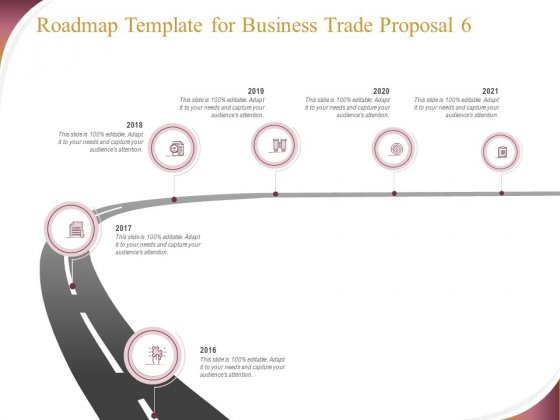 Trading Company Roadmap Template For Business Trade Proposal 2016 To 2016 Ppt Icon Slideshow PDF