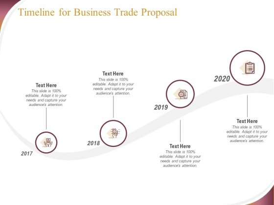 Trading Company Timeline For Business Trade Proposal Ppt Inspiration Background Images PDF