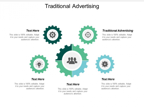Traditional Advertising Ppt PowerPoint Presentation Professional Graphics Template Cpb