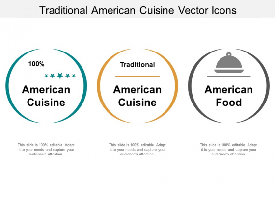 Traditional American Cuisine Vector Icons Ppt PowerPoint Presentation Summary Picture
