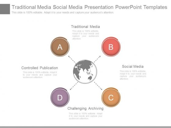 traditional media social media presentation powerpoint templates