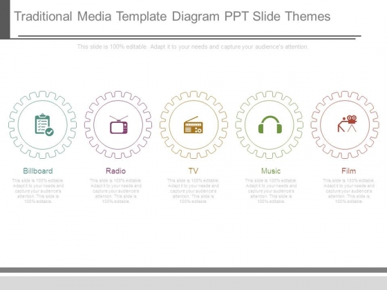 Traditional Media Template Diagram Ppt Slide Themes
