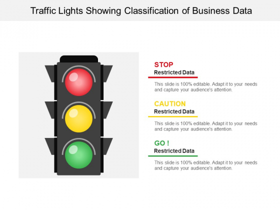 Traffic Lights Showing Classification Of Business Data Ppt PowerPoint Presentation Inspiration Grid PDF