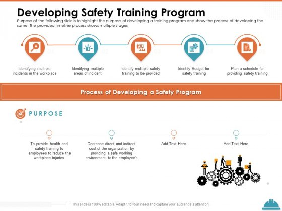 Train Employees Health Safety Developing Safety Training Program Ppt Ideas Design Inspiration PDF