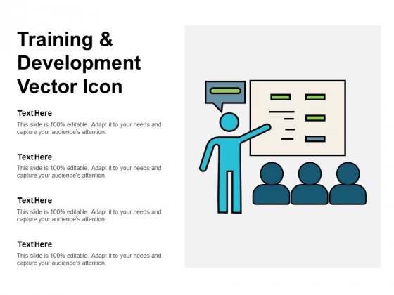 Training And Development Vector Icon Ppt PowerPoint Presentation Layouts Design Inspiration