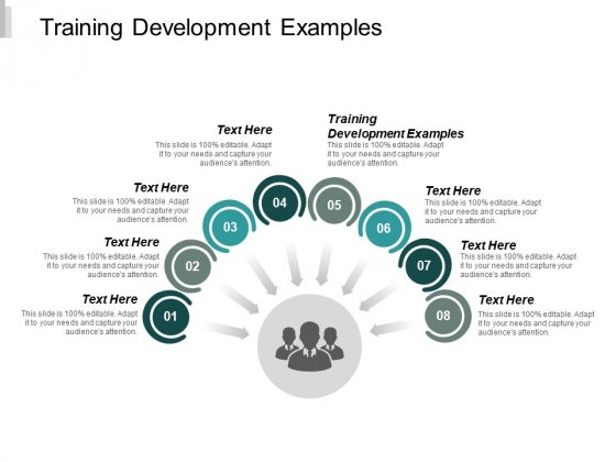 Training Development Examples Ppt PowerPoint Presentation Model Influencers Cpb