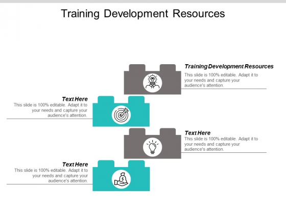 Training Development Resources Ppt PowerPoint Presentation Styles Graphics Pictures Cpb