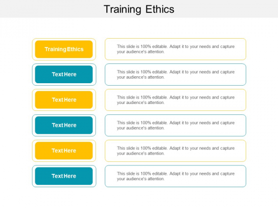 Training Ethics Ppt PowerPoint Presentation Slides Download Cpb