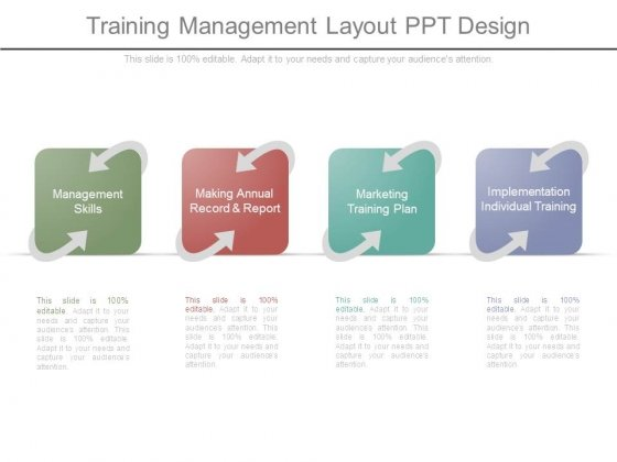 training management layout ppt design powerpoint templates