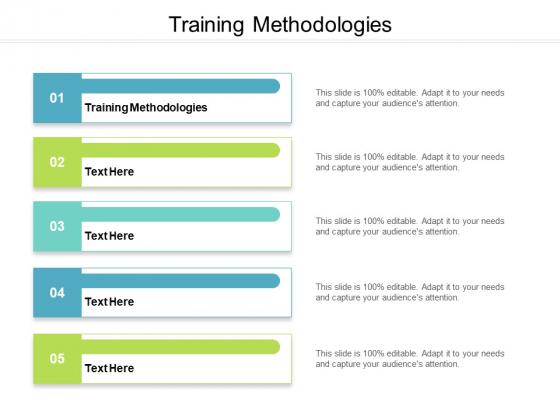 Training Methodologies Ppt PowerPoint Presentation Outline Files Cpb