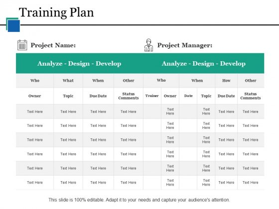 Training Plan Ppt PowerPoint Presentation Icon Information