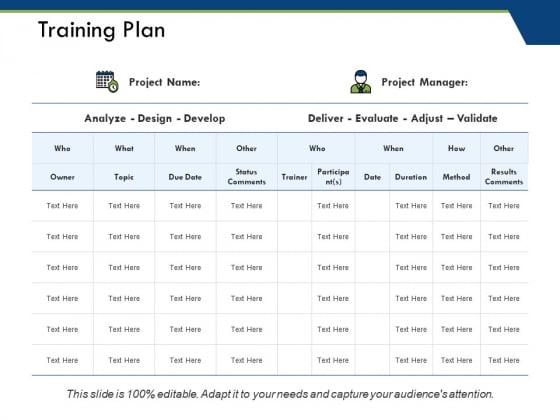 Training Plan Ppt PowerPoint Presentation Styles Mockup