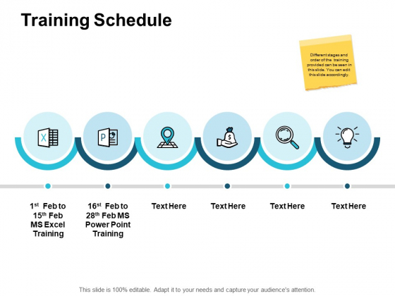 Training Schedule Marketing Ppt PowerPoint Presentation File Guidelines