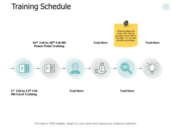 Training Schedule Marketing Ppt PowerPoint Presentation Summary Information
