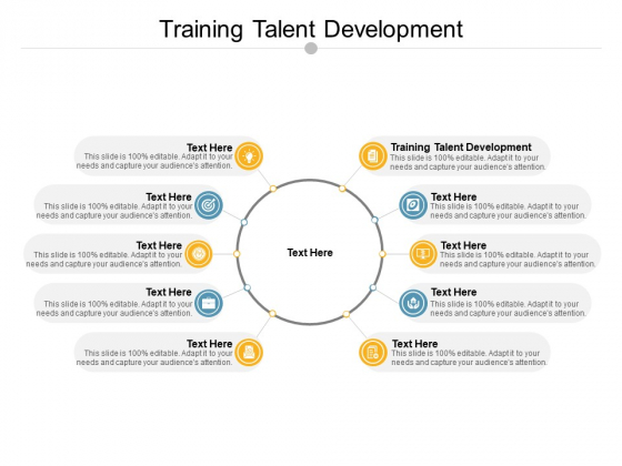 Training Talent Development Ppt PowerPoint Presentation Styles Design Ideas Cpb