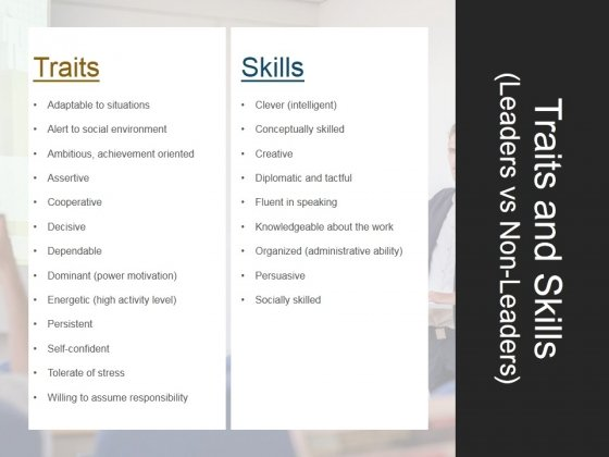 Traits And Skills Leaders Vs Non Leaders Ppt PowerPoint Presentation Templates