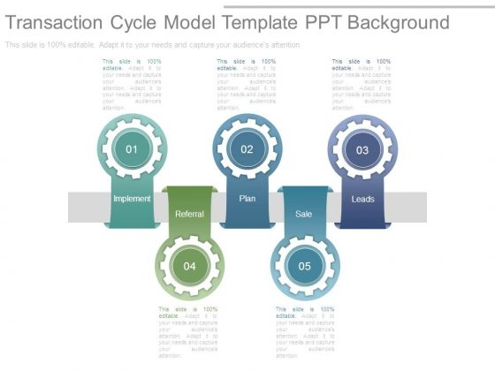 Transaction Cycle Model Template Ppt Background